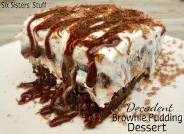 Decadent Brownie Pudding Dessert