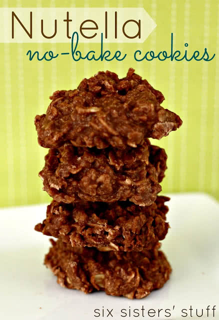 Nutella No-Bake Cookies