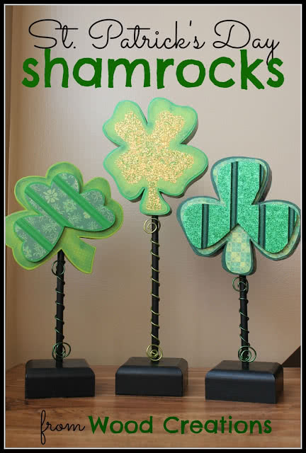 St. Patrick's Day Craft Tutorial from Wood Creations