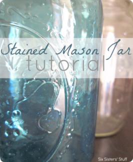 DIY Stained Mason Jars Tutorial