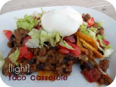 30 Minute Light Taco Casserole Recipe