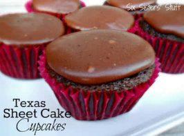 Texas Sheet Cake Cupcakes