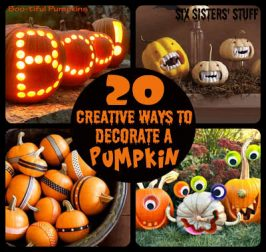 20 Creative Ways to Decorate Pumpkins