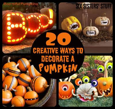 20 Creative Ways to Decorate Pumpkins