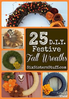 25 DIY Festive Fall Wreath Tutorials