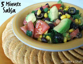 Healthy Meals Monday: 5 minute Black Bean and Corn Salsa