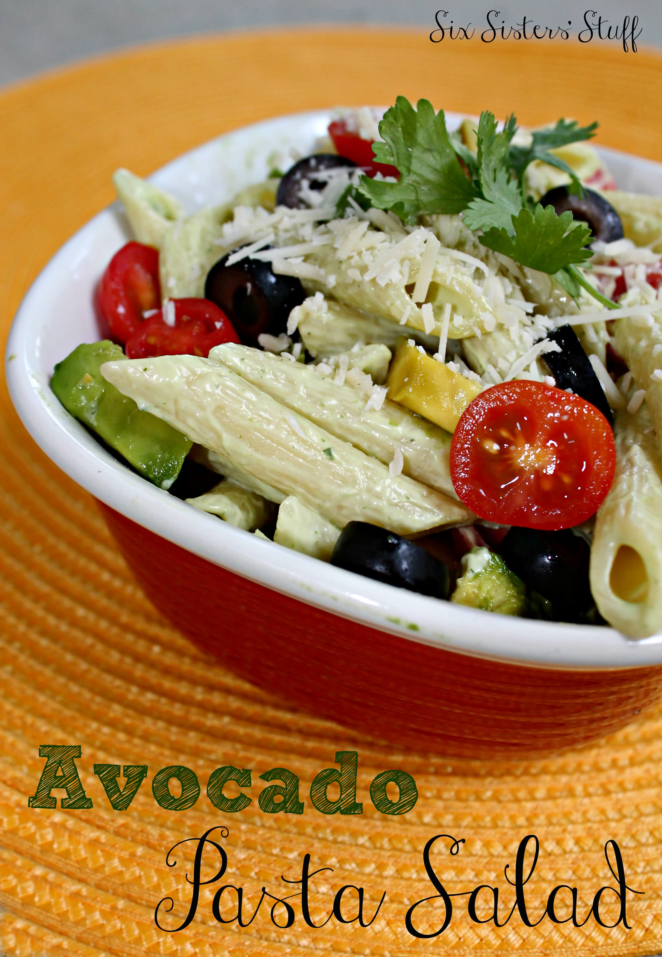 Avocado Pasta Salad Recipe