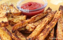 Steak fries made at home with dipping sauce