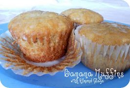 Lion House Banana Bread Muffins with Almond Glaze Recipe