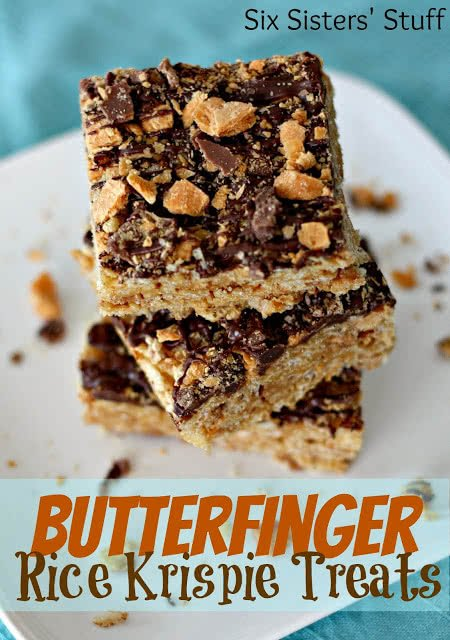 Butterfinger Rice Krispie Treats | Fun And Yummy Rice Krispie Treats
