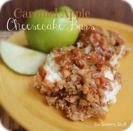 Caramel Apple Cheesecake Bars Recipe & Smart Balance Contest
