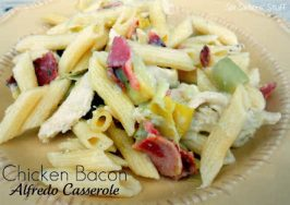 Chicken Bacon Alfredo Casserole Recipe