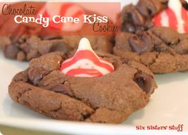 Chocolate Candy Cane Kiss Cookies Recipe