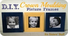 DIY Crown Moulding Picture Frames- Lowe's $50 and Change Project Giveaway