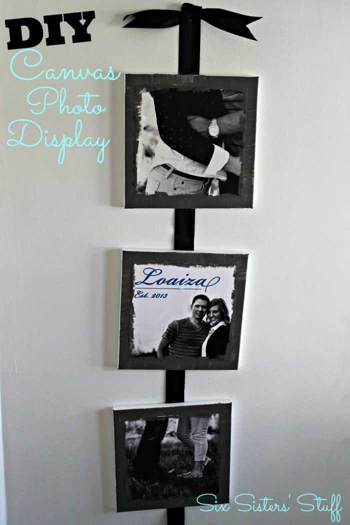 DIY Canvas Photo Display with Photoshop Elements