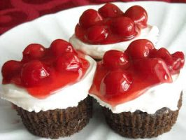Black Forest Cherry Cupcake Recipe