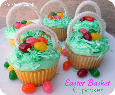 Easter Egg Basket Cupcakes