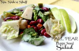 Healthy Meals Monday: Fall Pear Poppy Seed Salad