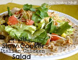 Healthy Meals Monday: Slow Cooker Italian Chicken Salad