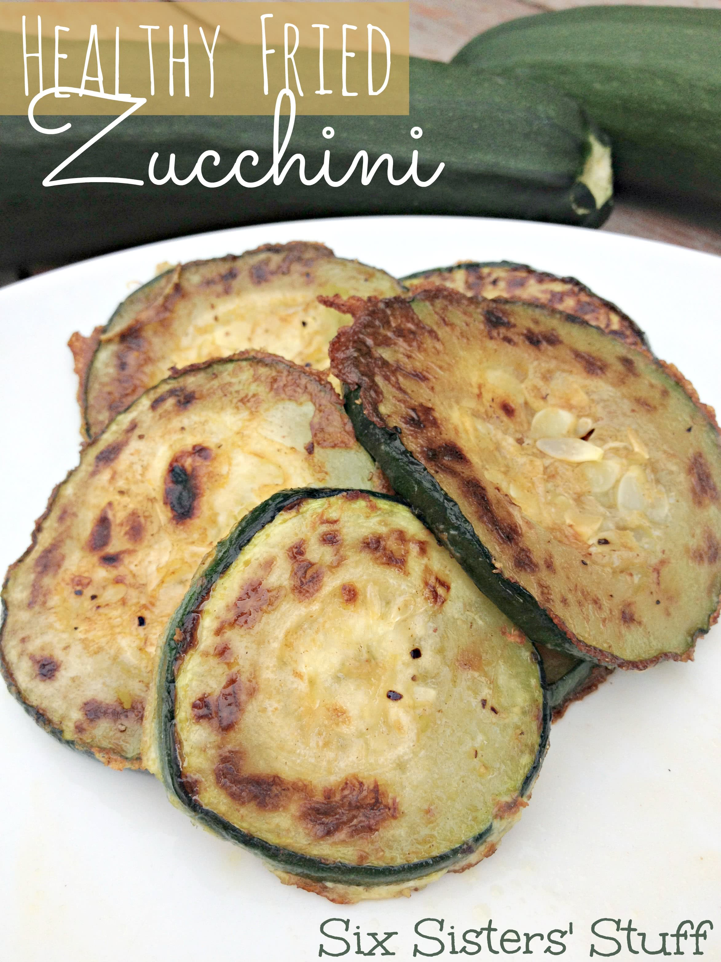 Healthy Fried Zucchini