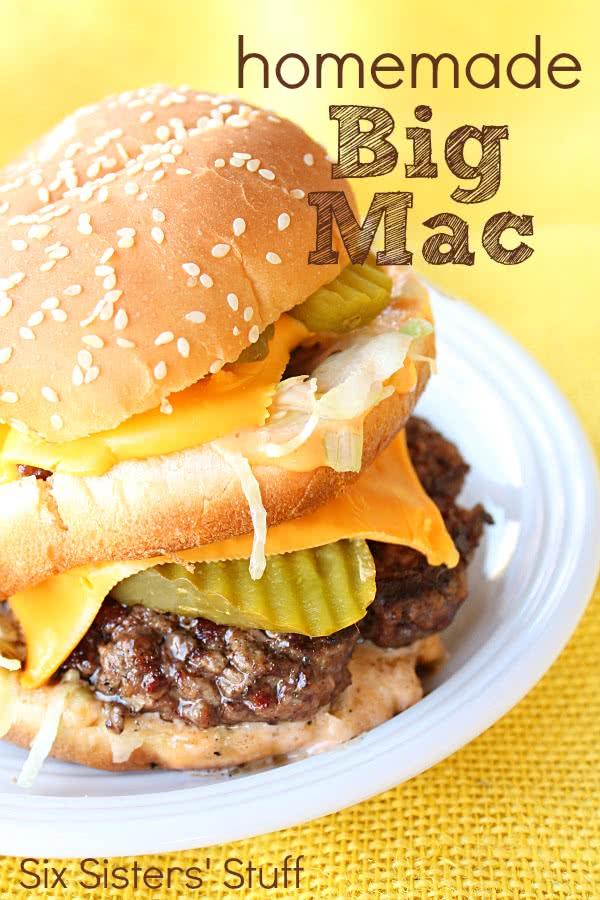Homemade Copycat Big Mac Recipe