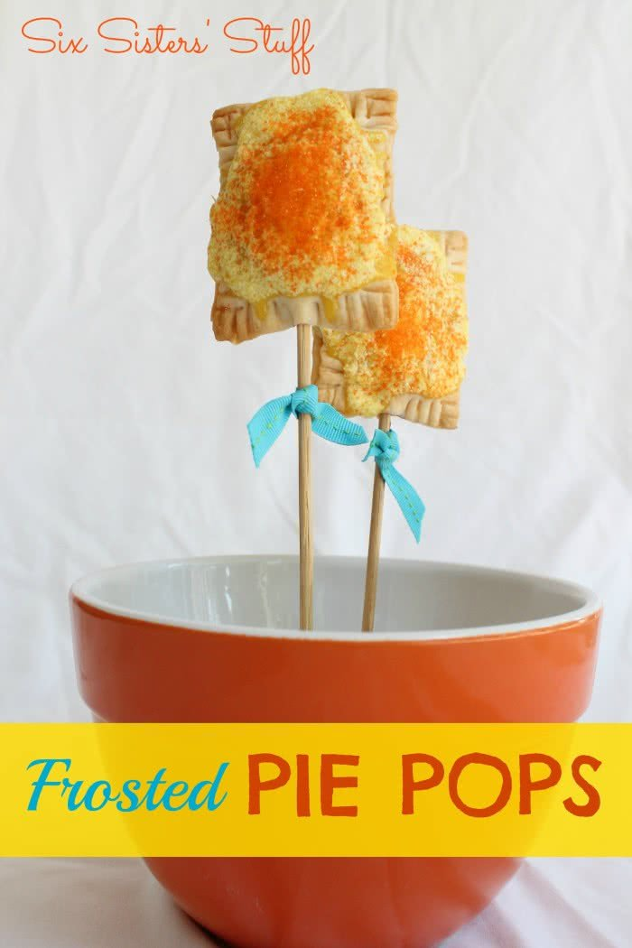 Frosted Pie Pops