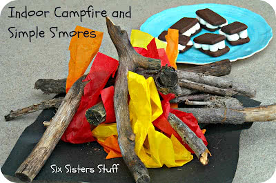 Simple S'mores Recipe with an Indoor Campout (fire included)