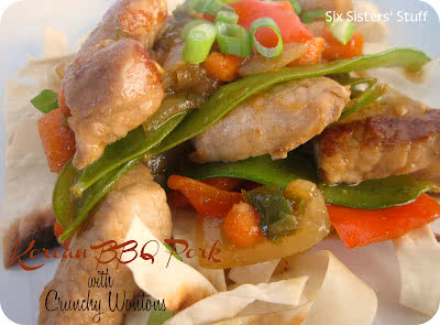 The Pampered Chef Korean BBQ Pork with Crunchy Wontons & a Giveaway