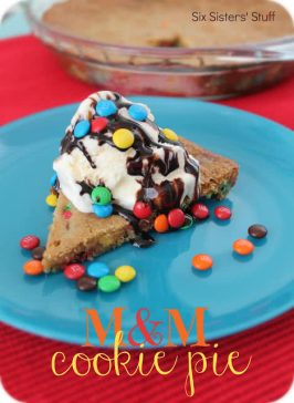 M&M Cookie Pie Recipe