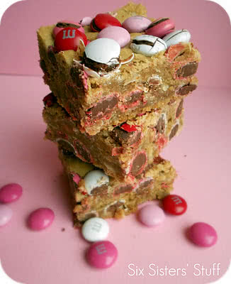 Valentine M&M Samoa Blondies Recipe