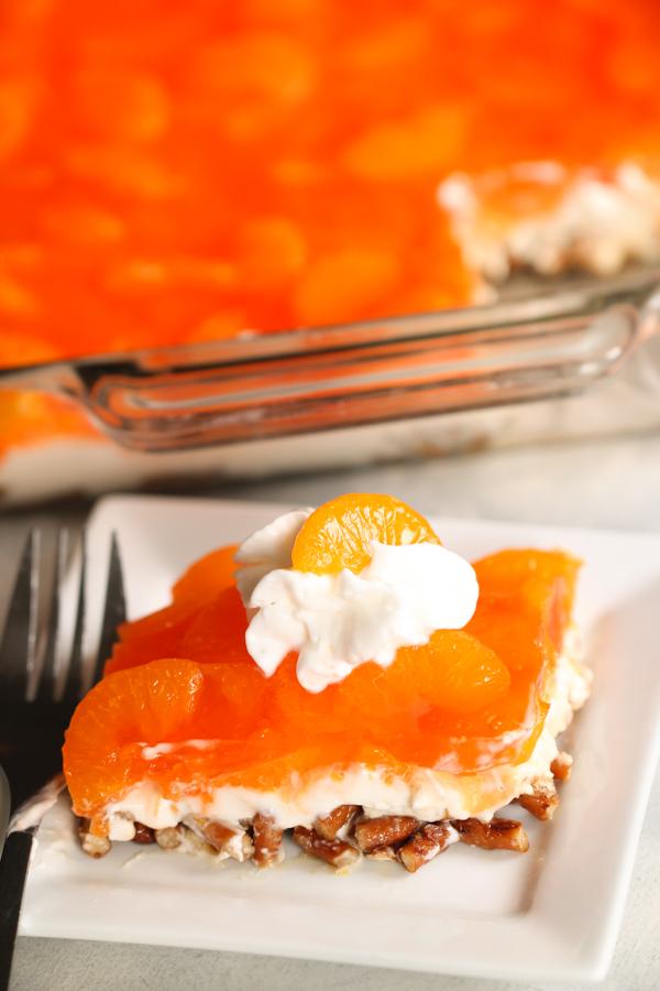 Mandarin Orange Pretzel Salad Recipe