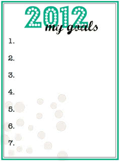 2012 New Year's Goals Printable