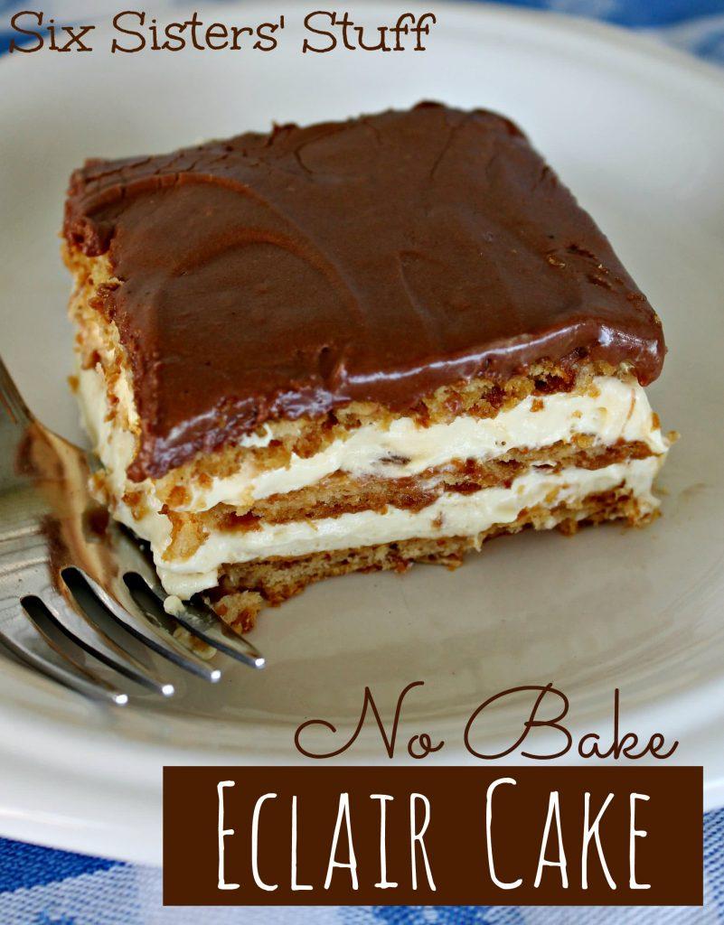 No Bake Eclair Cake – Six Sisters' Stuff