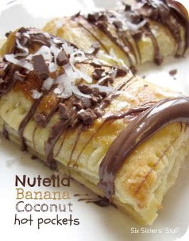 Nutella Banana Coconut Hot Pockets Recipe