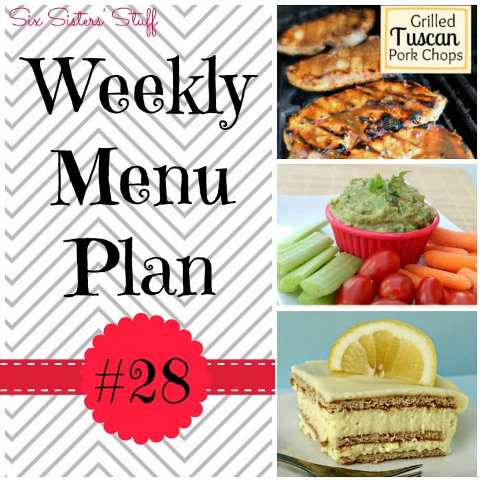 Six Sisters' Weekly Menu Plan #28