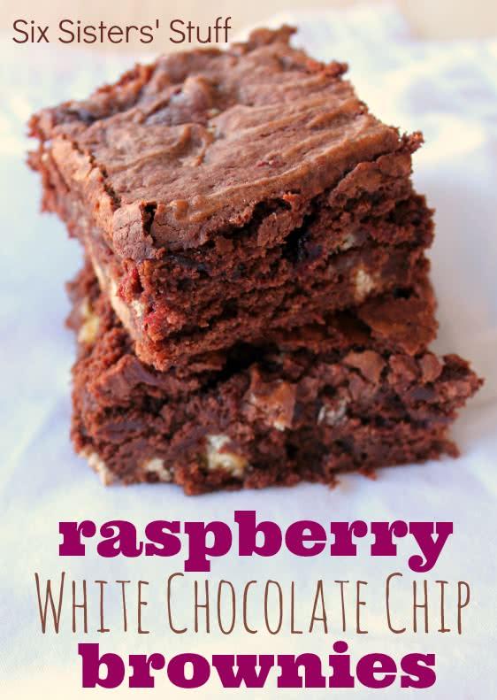 Raspberry White Chocolate Chip Brownies Recipe