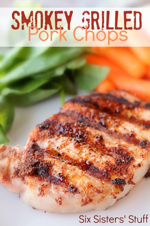 Smokey Grilled Pork Chops Recipe