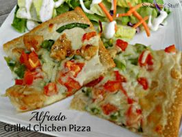 Alfredo Grilled Chicken Pizza Recipe