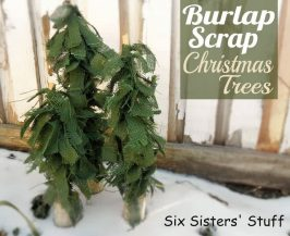 Burlap Scrap Christmas Trees Tutorial