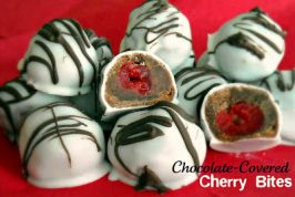 Chocolate Covered Cherry Bites Cookies