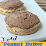 frosted pb cookies