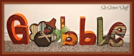 "Thanksgiving ""Gobble"" Wood Craft Tutorial"