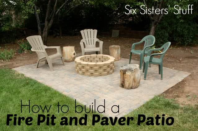 How to build a Fire Pit and Paver Patio Tutorial (plus a video tutorial!)