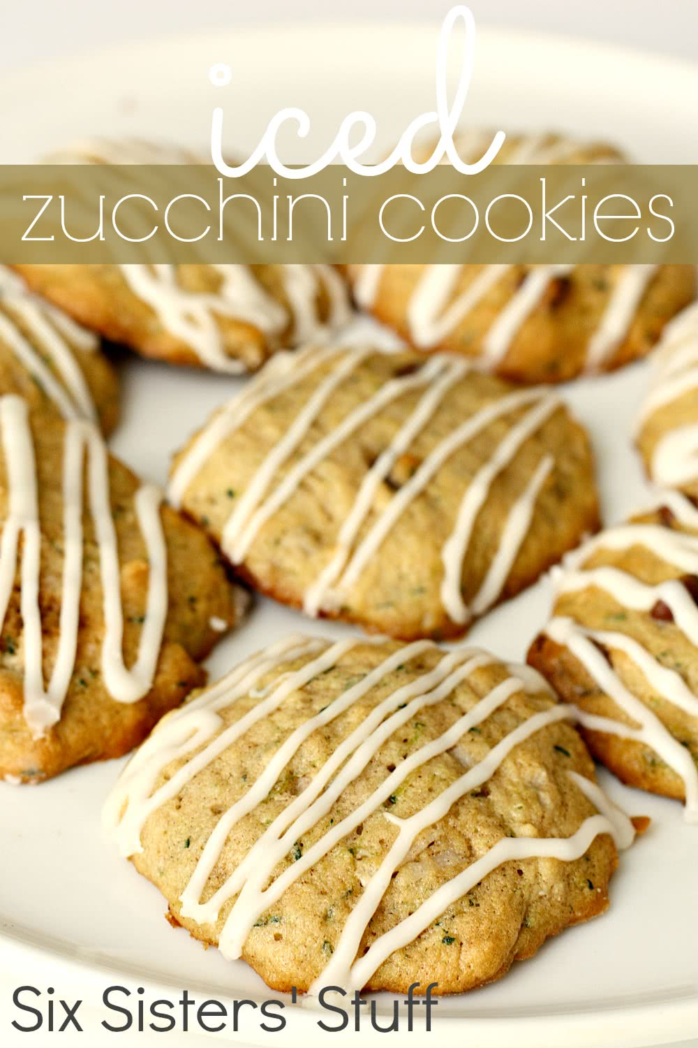 Iced Zucchini Cookies Recipe