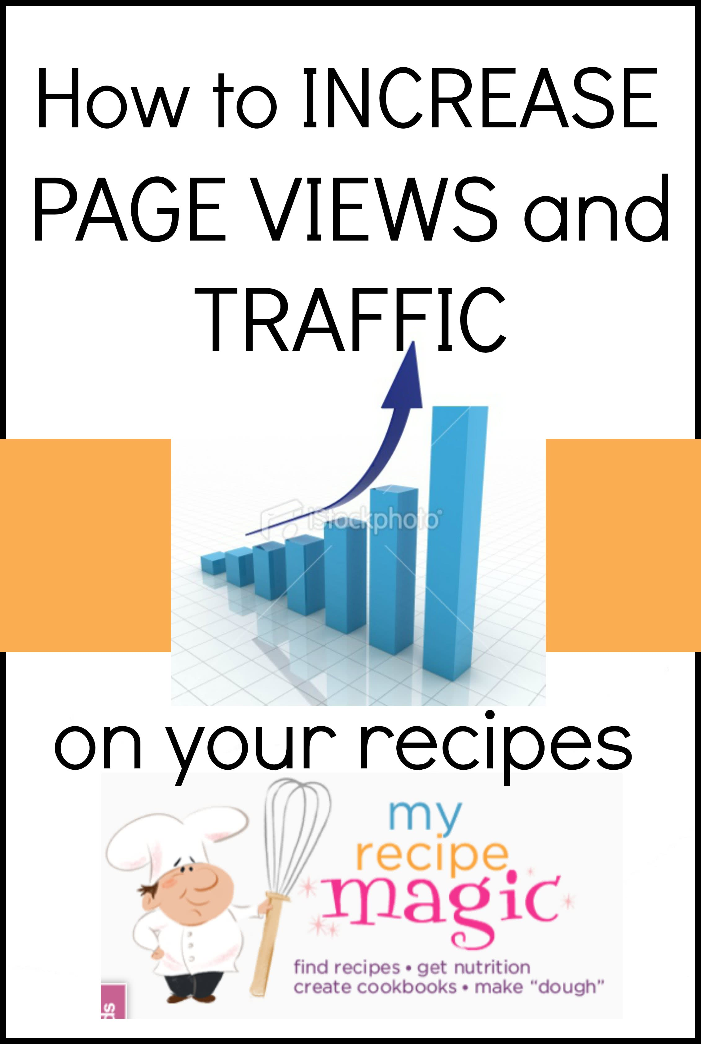 How to increase page views AFTER sharing a recipe on MyRecipeMagic.com