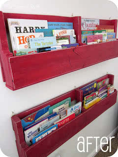 Pallet Bookshelves Tutorial