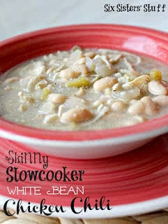 Skinny Slow Cooker White Bean Chicken Chili