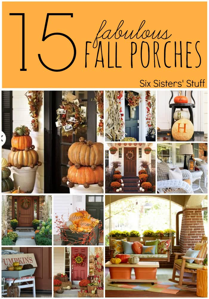 15 fabulous fall porches six sisters 39 stuff for Thanksgiving home decorations pinterest
