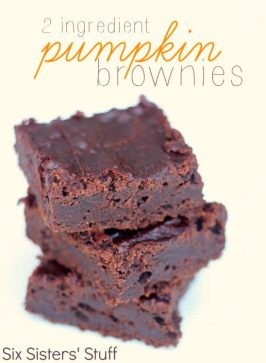 2 Ingredient Pumpkin Brownies Recipe