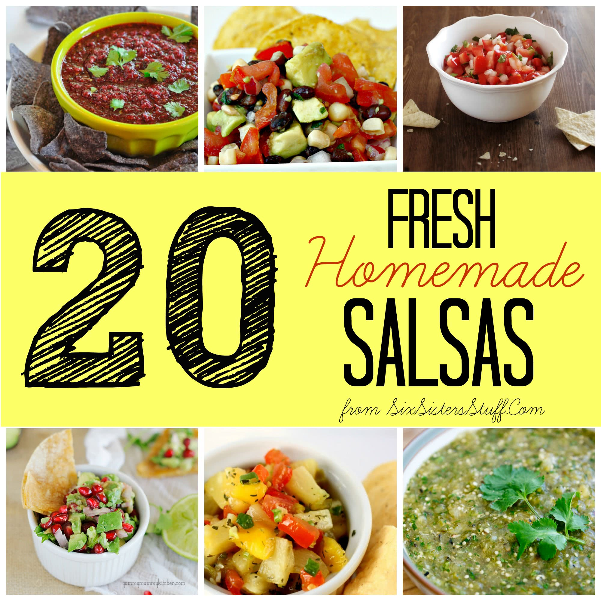 20 Fresh Homemade Salsas
